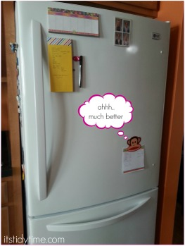 fridge all tidied up