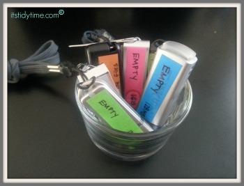 USB storage organized