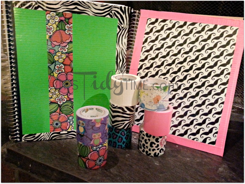 duct tape notebooks and tape