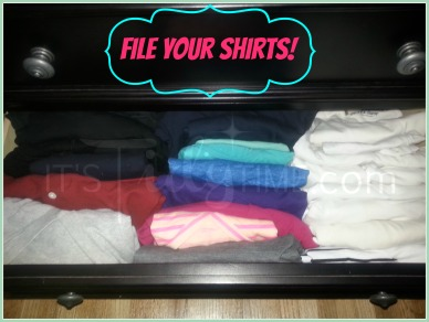 organize with filed shirts