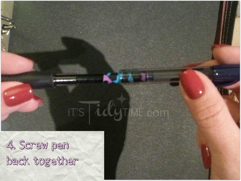 step 4 screw pen