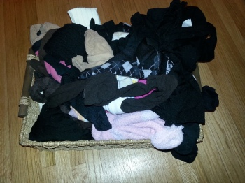 messy sock drawer