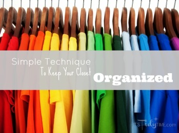 The simple technique of color coding helps to keep you closet organized