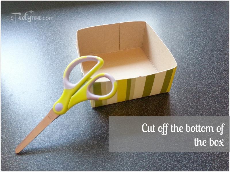 cut the bottom of box