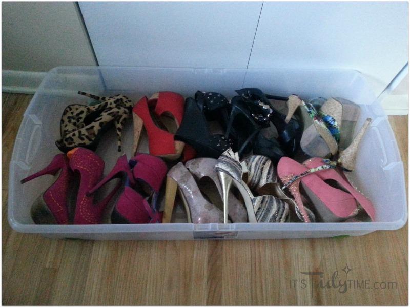 heels lying on side