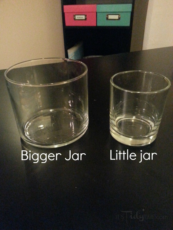 candle jars for #storage