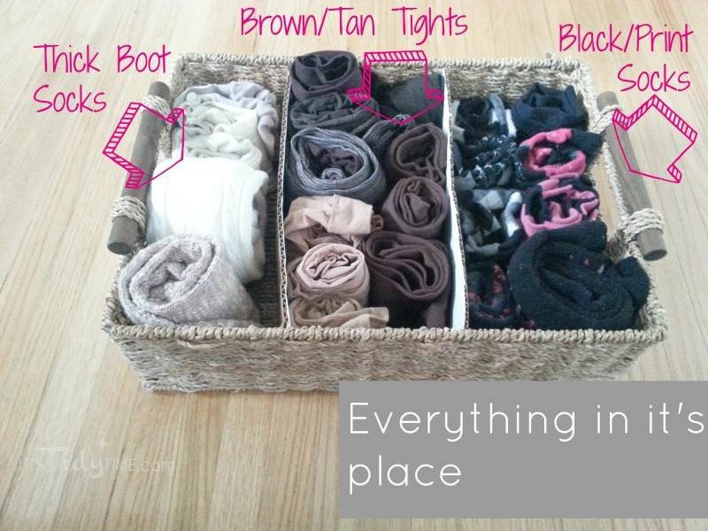 organized socks