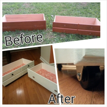 before and after drawer #storage