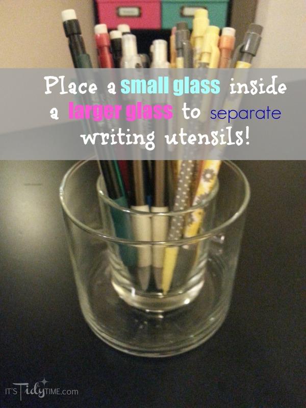 #organize pens and pencils
