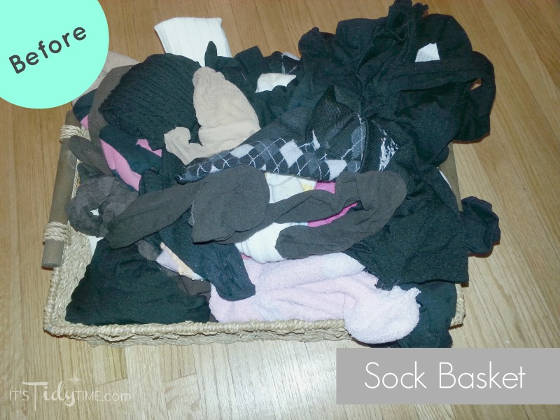 sock basket before