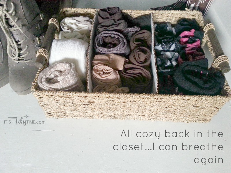 sock drawer in the closet
