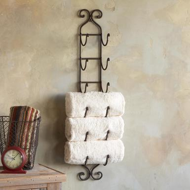 bathroom towel wine rack