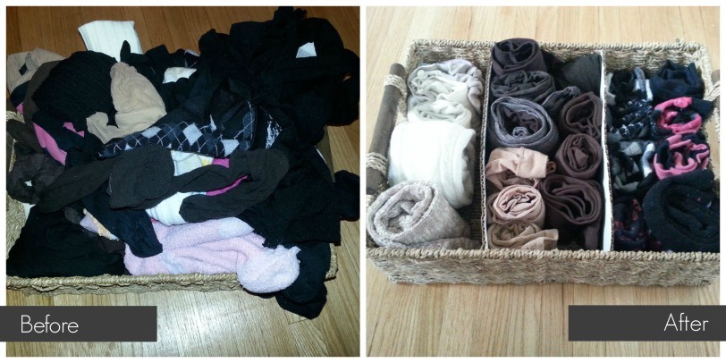 Before After Sock Basket