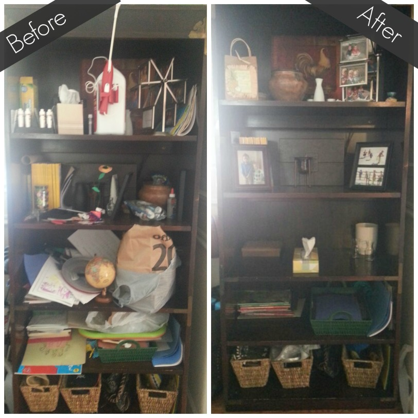 Bookshelf Before & After