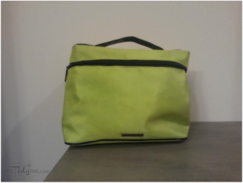 green cosmetic bag