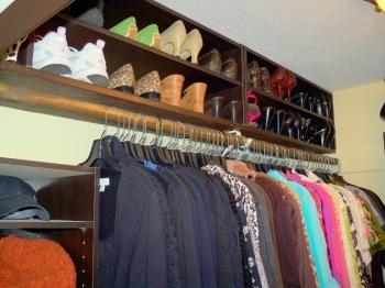 Shoe Storage Above Clothing