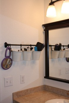 Towel Rod and Buckets