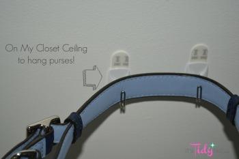 3M hooks closet ceiling