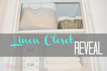 linen closet reveal