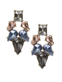 glass stone earrings
