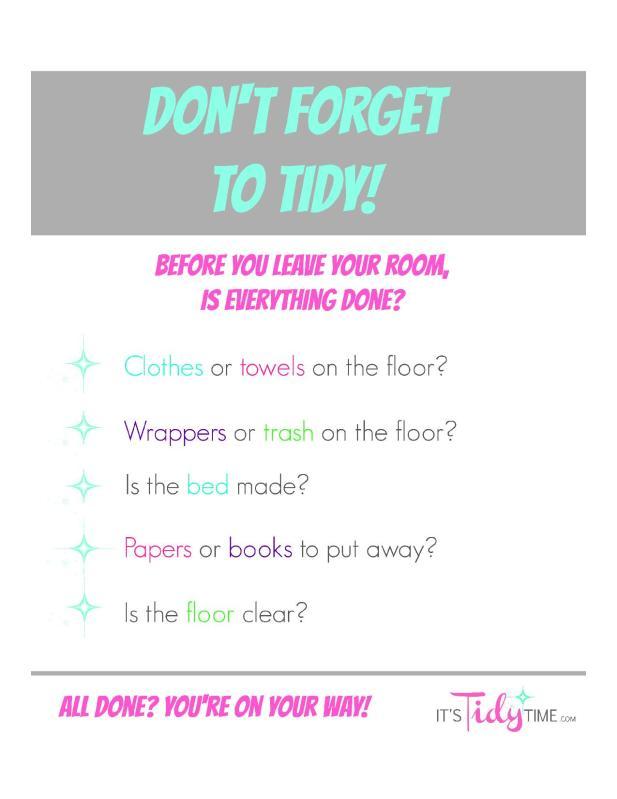 tidy-checklist-reminder